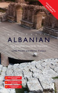 The cover of Routledge's Colloquial Albanian