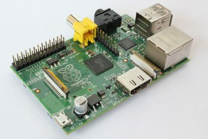 A photograph of the Raspberry PI